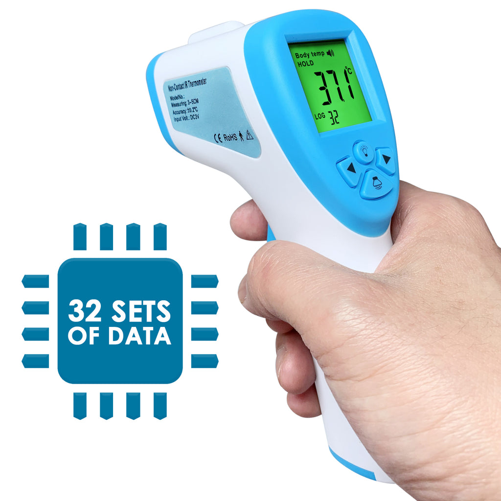 TK291PLUS Digital Forehead Human Body Thermometer Colored LCD Temperature Tester
