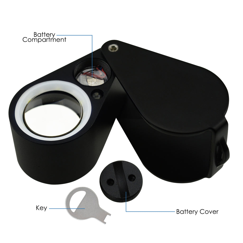 TEK-246 Jewelry Loupe 10x Magnification 21mm Optical Glass Lens 6 LED & UV Light Jeweler Watchmaker-Tekcoplus Ltd.