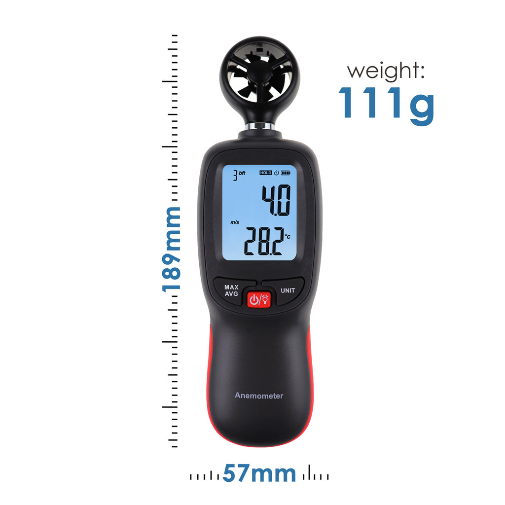 TK271PLUS Digital Anemometer Data Hold Temperature/Wind Speed Velocity