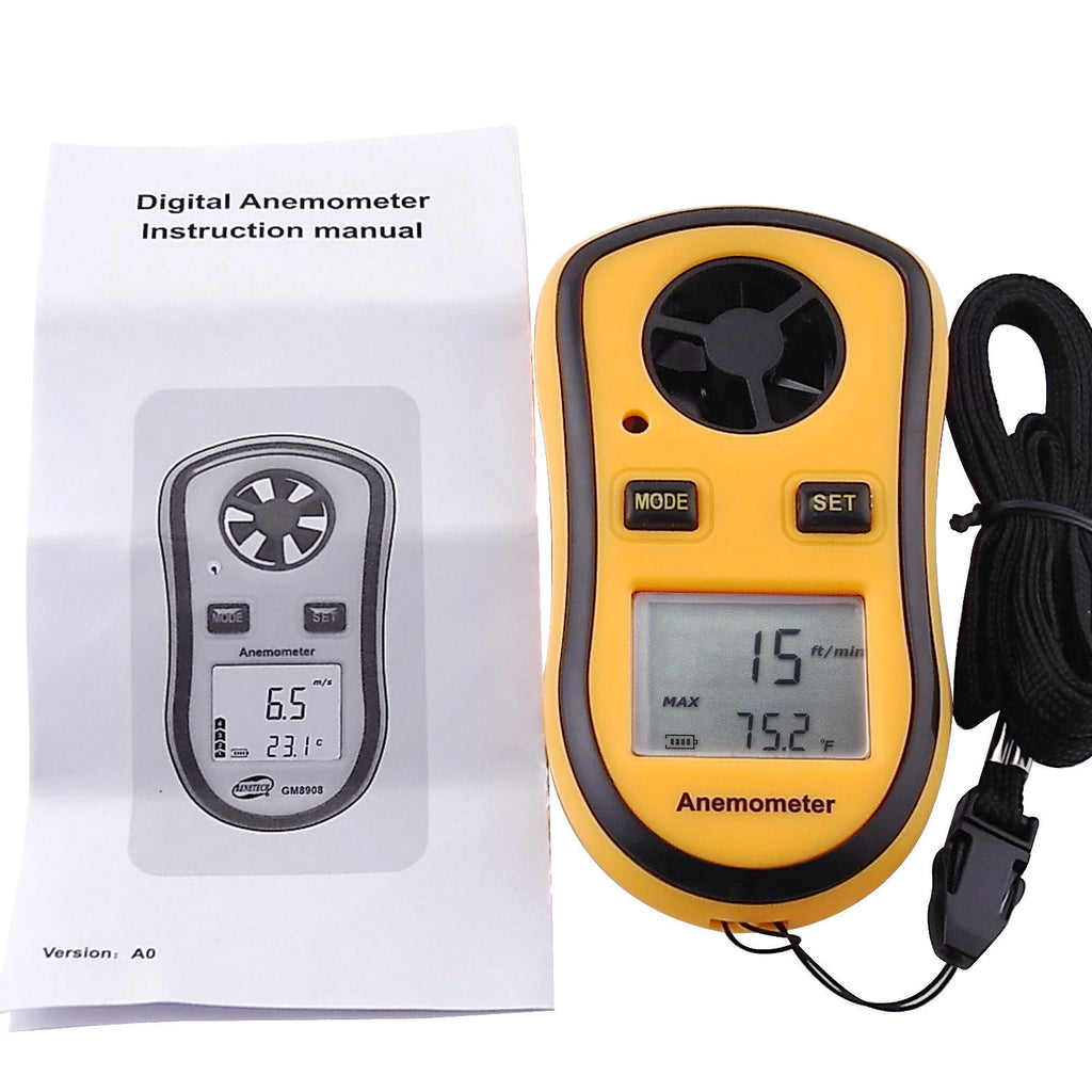 ANTK-706 Pocket-size Digital Thermo Anemometer, Handheld Air Wind Flow Velocity Speed Meter Testing-Tekcoplus Ltd.