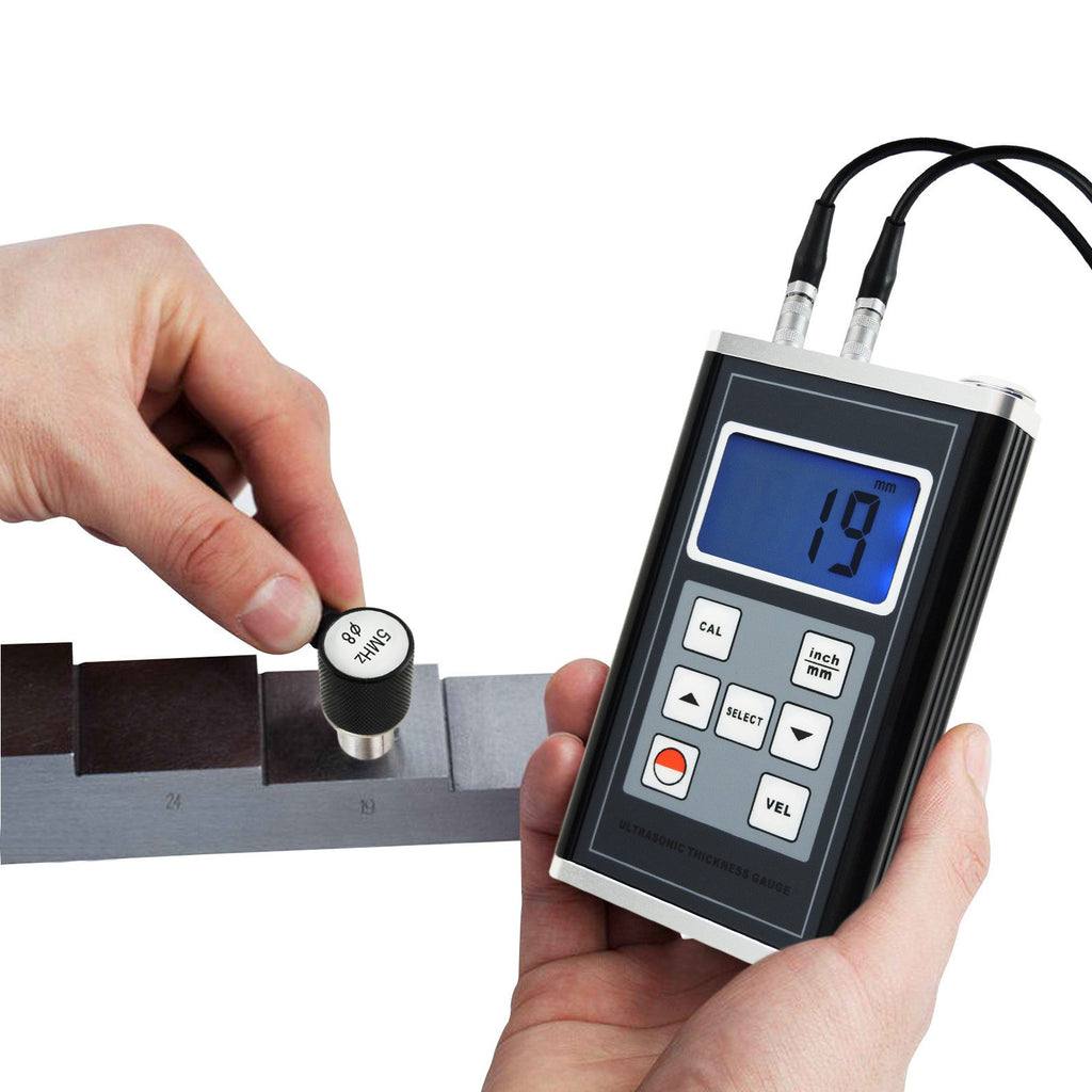 TMTK-900 Ultrasonic Thickness Meter Aluminum Steel Cast Iron Pipes 0.9~400mm Range Gauge Tester-Tekcoplus Ltd.
