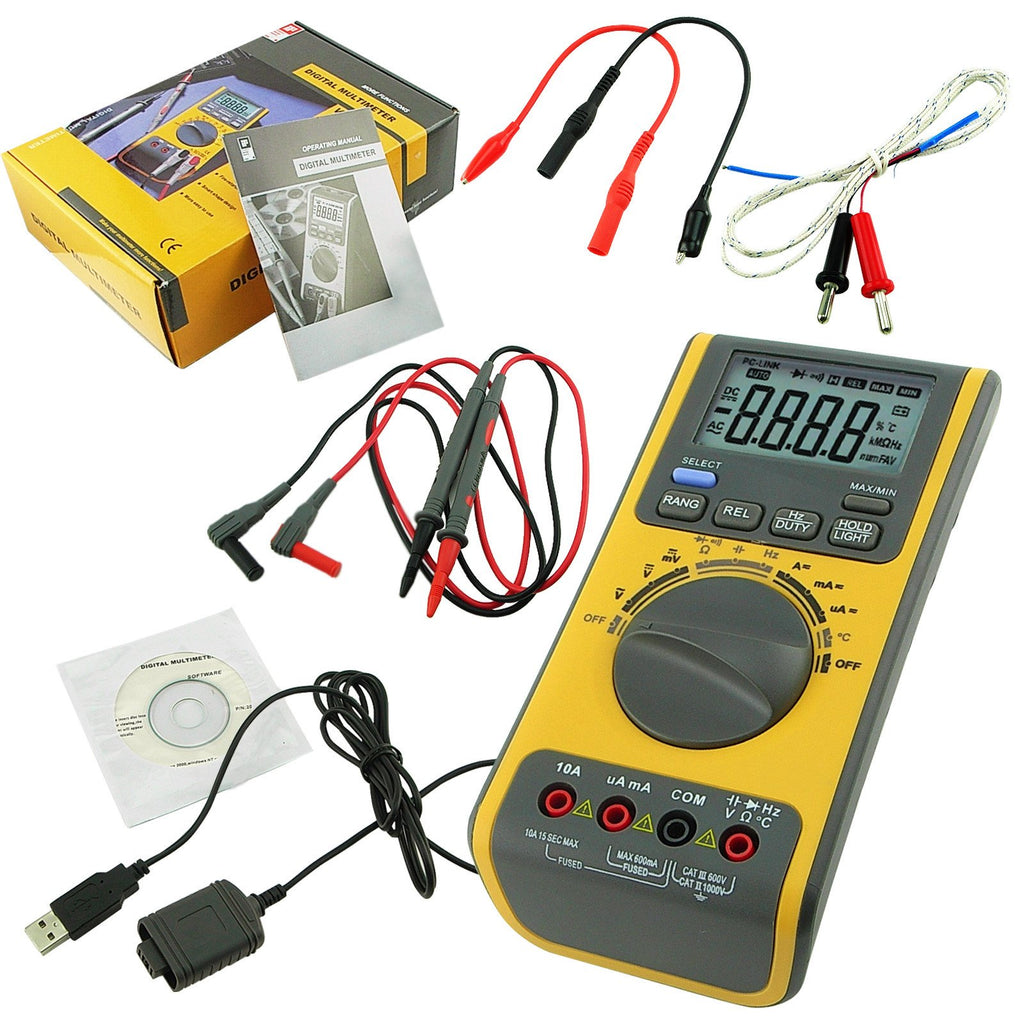Mutk 751 Digital Multimeter Auto Range Ac Dc Meter Tester Diode Test Car Wiring Temperature Frequency