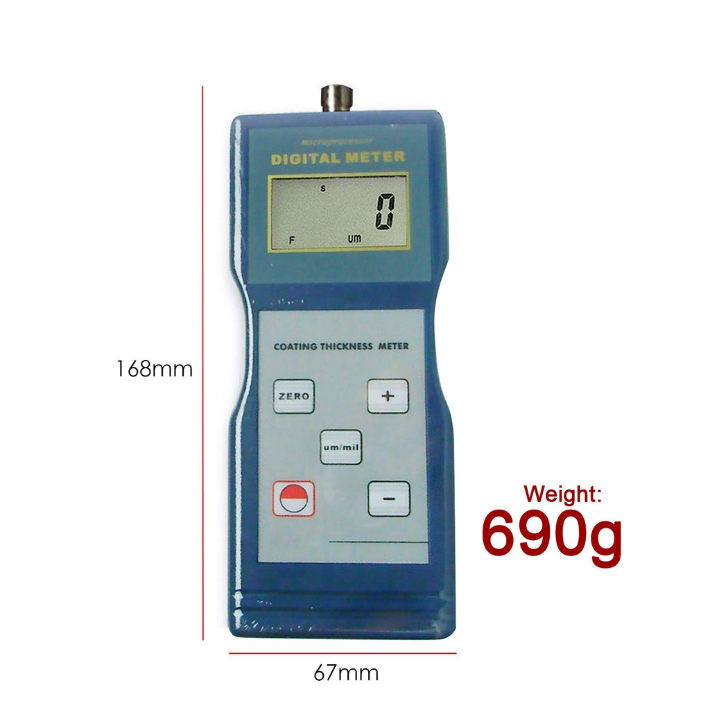 TMTK-759 Paint Coating Thickness Meter Gauge F Probe 1000μm / 40mil Magnetic Induction-Tekcoplus Ltd.
