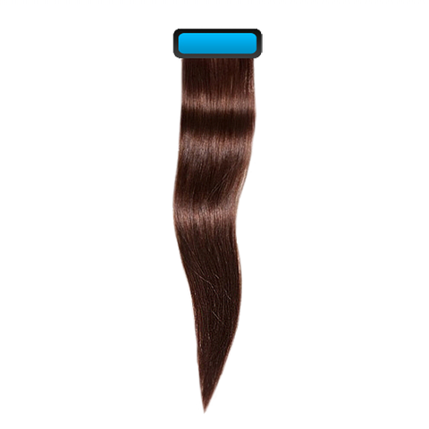 Chocolate brown 18 inches straight pre taped european remy hair extensions