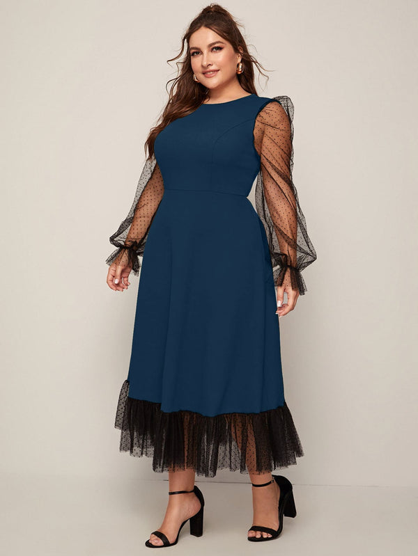 Two Tone Women elegant Dress