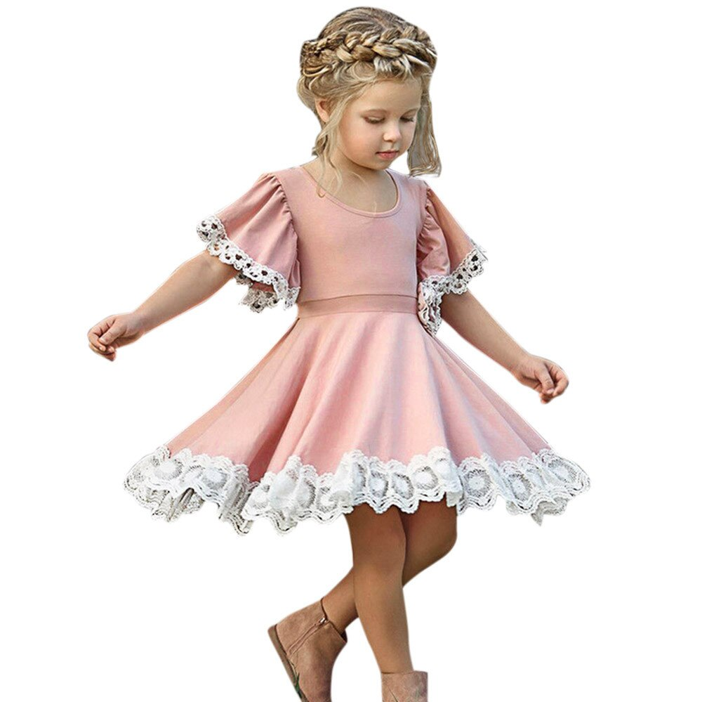 Kids Baby Girls Dress Summer Clothes Lace