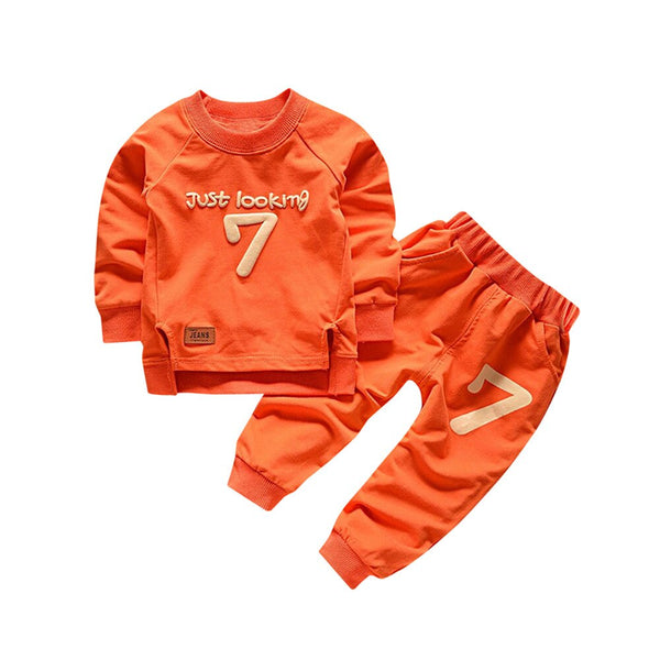 New 2pcs Toddler Baby Boy Girl Clothes Letter
