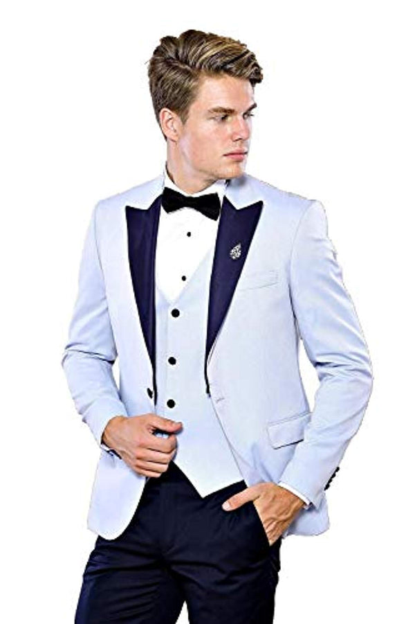 Soft Blue Wedding Suit - Be Imperial