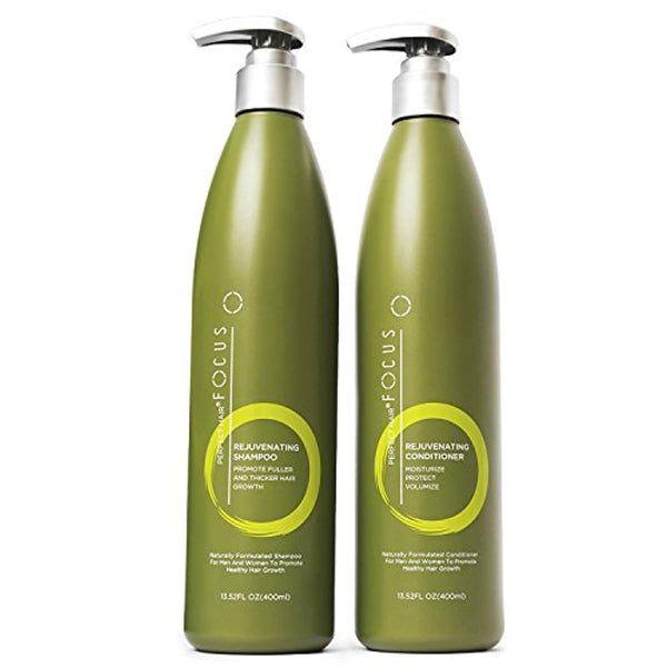 Natural Shampoo and Conditioner - Paraben and Sulfate Free Infused with Jojoba, Coconut, Argan Oil and Biotin - Color Safe Formula Promotes Hair Growth - Includes Pump - 13.5 ounce
