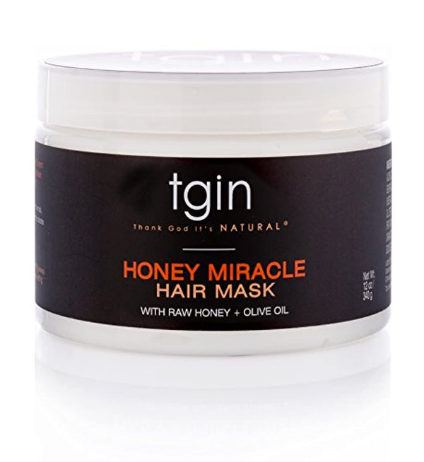 Honey Miracle Hair Mask Deep Conditioner With Raw Honey & Olive Oil For Natural Hair - Dry Hair - Curly Hair - 12 Oz