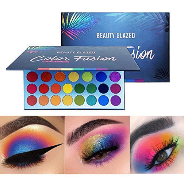 High Pigmented Makeup Palette Easy to Blend Color Fusion 39 Shades Metallic and Shimmers , Waterproof Eye Shadows
