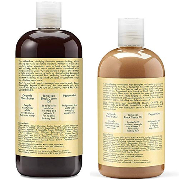 Jamaican Black Castor Oil Combination Pack – Strengthen, Grow & Restore – Shampoo, 16.3 Oz, Conditioner 13 Oz. & Leave-In Conditioner 16 Oz