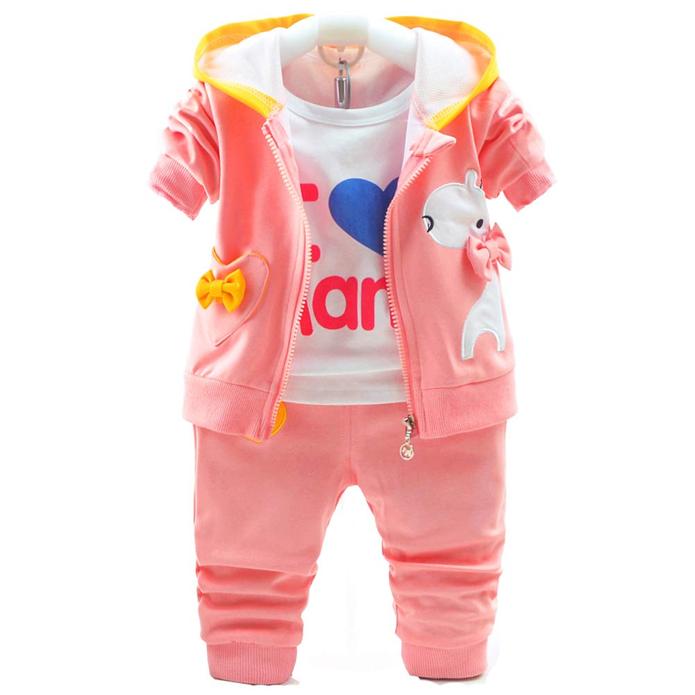 Baby Girls 3 Piece Sets T Shirt Vest and Pants