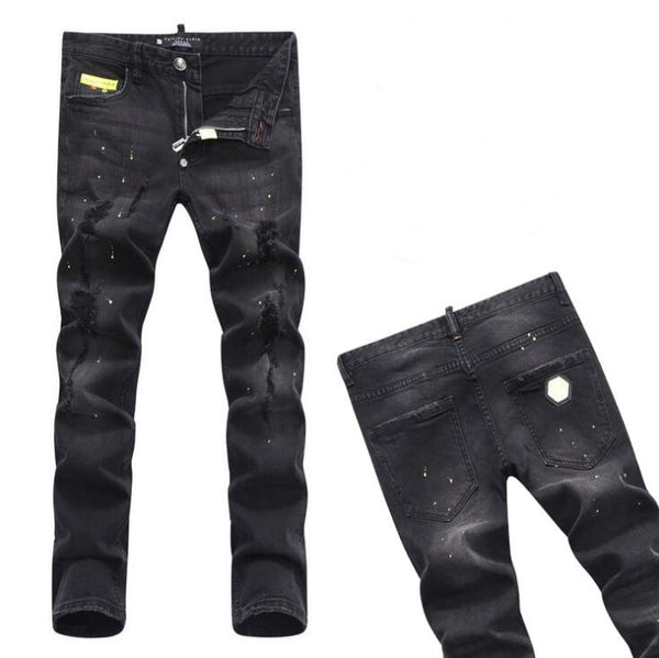 22 Style mens designer jeans Man Ripped Denim Tearing Jeans blue Cotton fashion Tight spring autumn Men's pants A7912