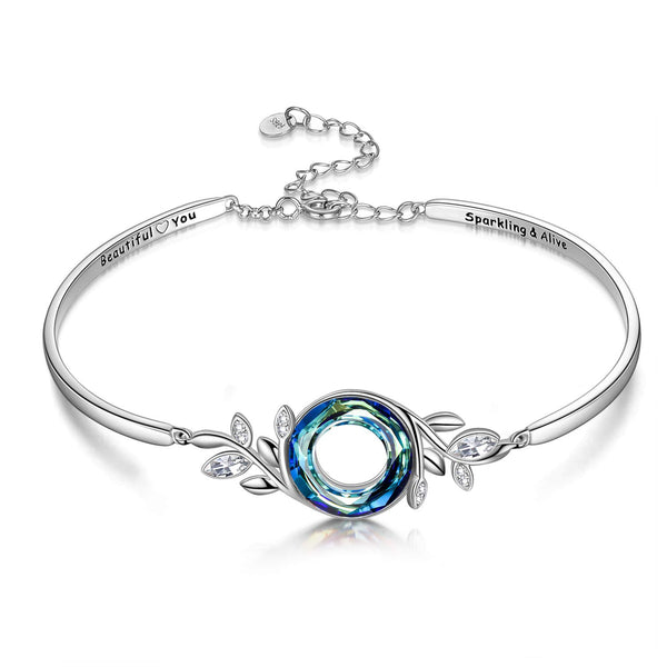 Sterling Silver  S925 Bracelet  with Swarovski Crystals