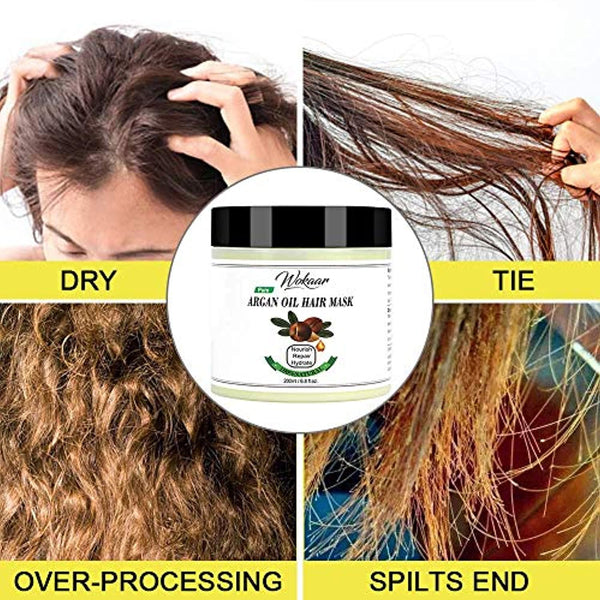 Argan Oil Hair Mask Conditioner for Dry Damaged Hair,Dry Hair Treatment Mask,Dry Hair Mask for Moisture,Soothing & Damaged,All Natural Ingredients Repair Hair Masque for Thin Dry Damaged Coloured Hair