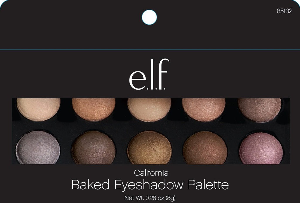e.l.f. Cosmetics Baked Eyeshadow Palette Shimmer Eye Makeup