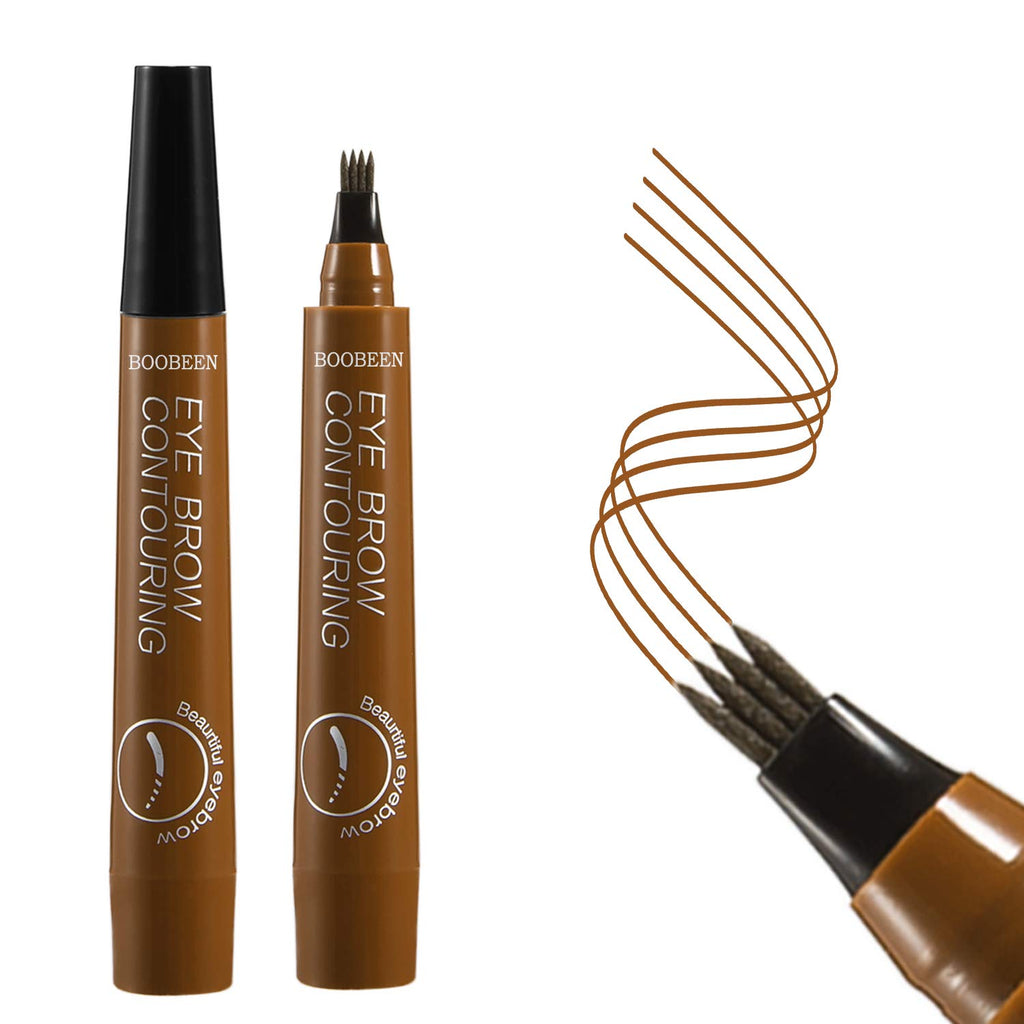 Eyebrow Tattoo Pen - Waterproof Microblading Eyebrow Pencil with a Micro-Fork Tip Applicator - Creates Natural Looking Brows Effortlessly