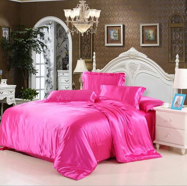 Luxury Mulberry silk bedding sets duvet cover bedspread bed sheet king/queen/full