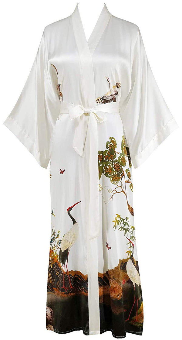 Women's 100% Luxury  Silk Kimono Long Robe