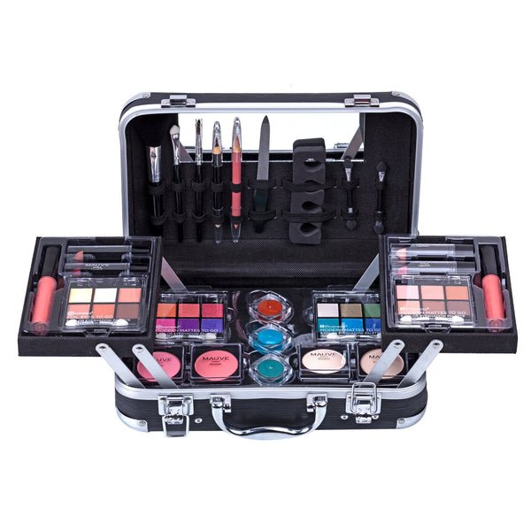 Carry All Trunk Train Case with Makeup