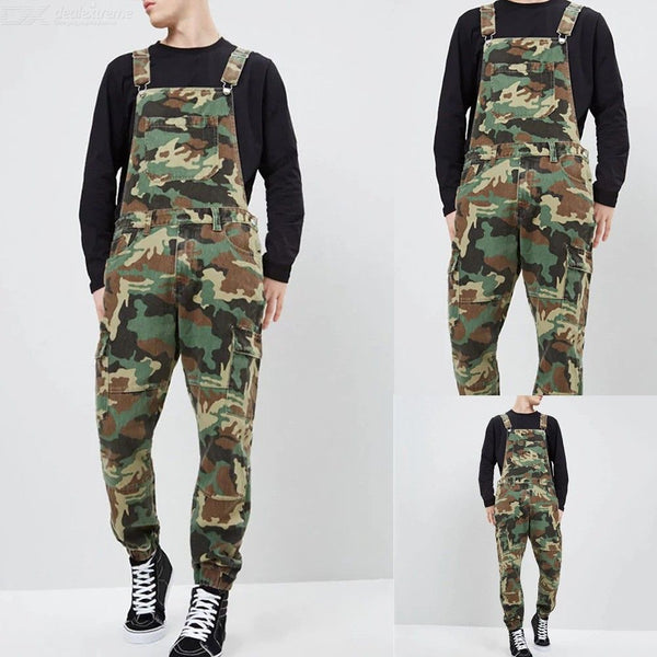 Mens Casual Camouflage Pants Male Multi-pocket