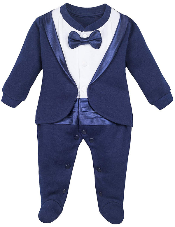 Baby Boy Outfit with Bow Tie