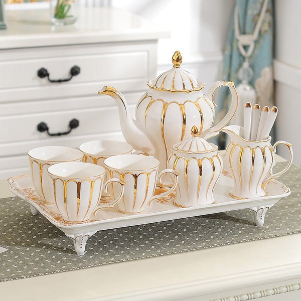 European coffee cups set