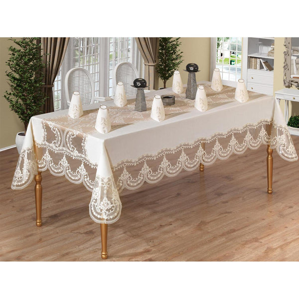French Laced Pentameter Lace Dinner set-25 Piece