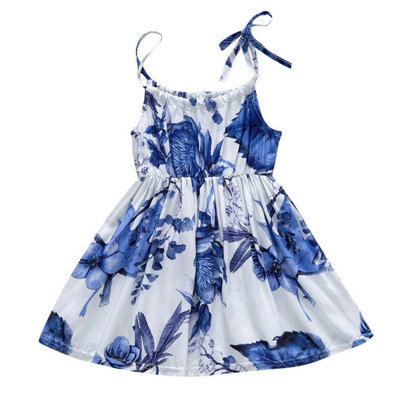 Kid Baby Girls Dresses Summer Clothing Blue