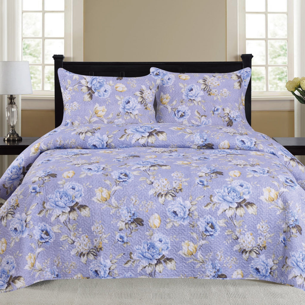 Nikki - 3 Piece Quilt Set - Lilac - Be Imperial
