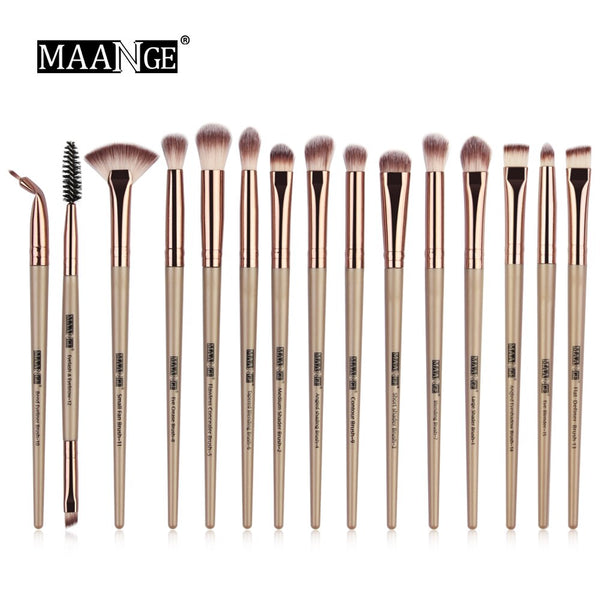 MAANGE 15pcs Eye Makeup Brushes Set Fan shaped - Be Imperial