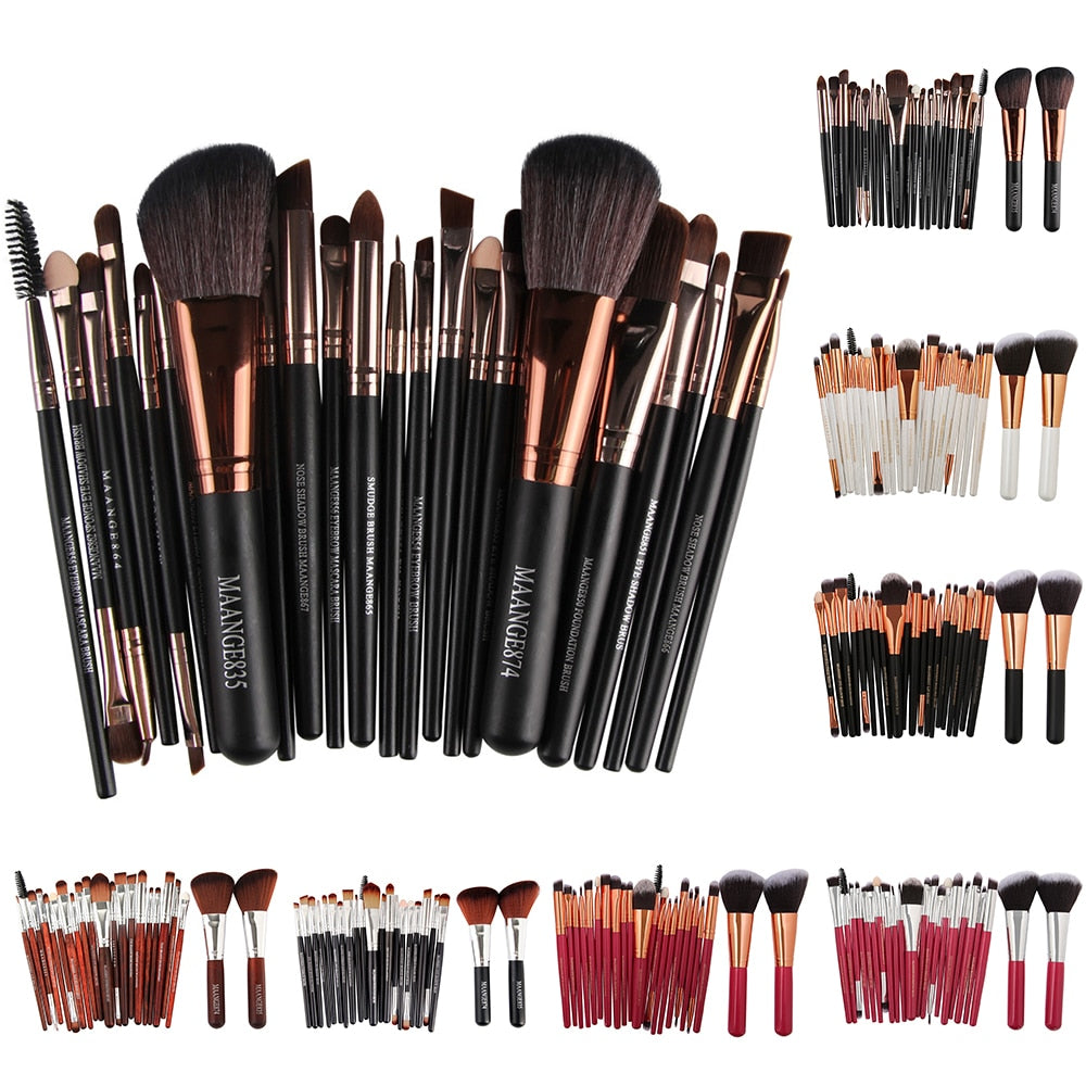 MAANGE 22Pcs Makeup Brushes Set Face Foundation - Be Imperial