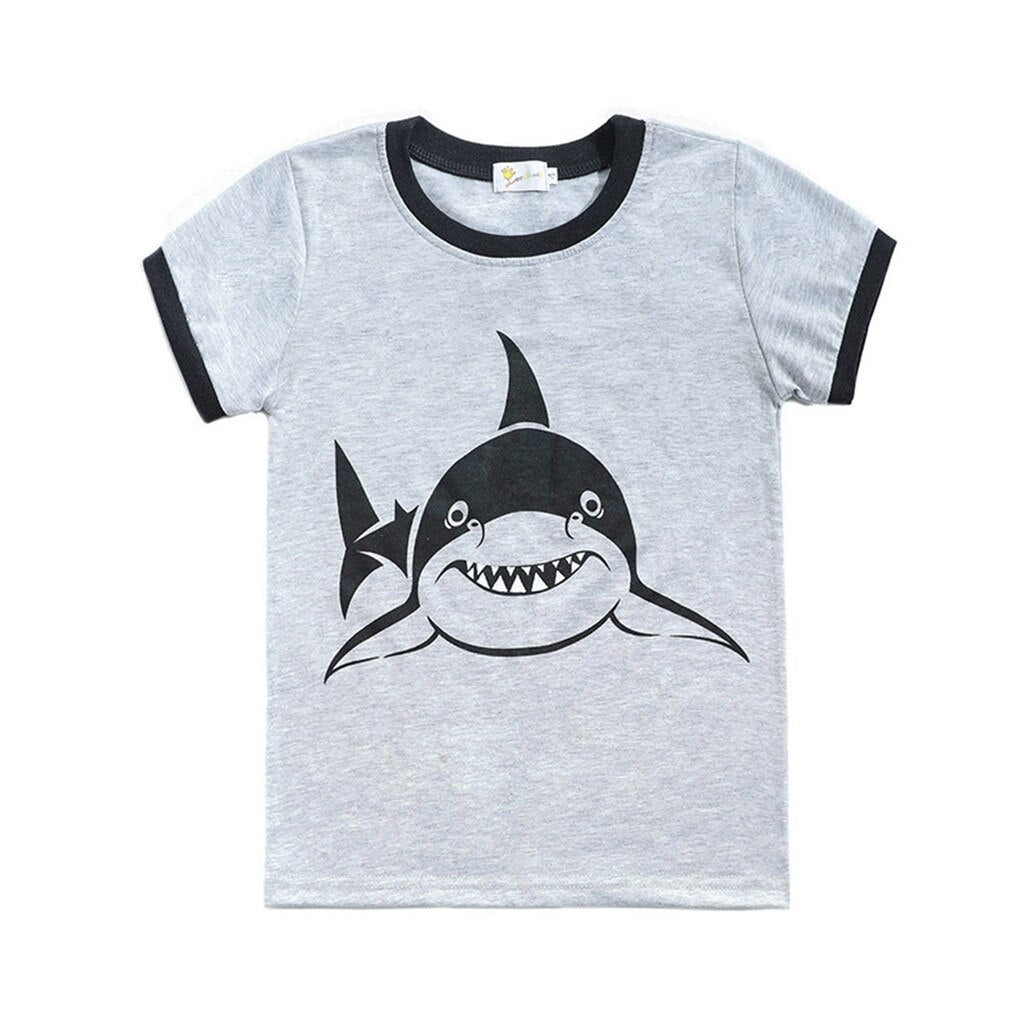 Toddler Baby Boy Cartoon Tops T-Shirt Shark