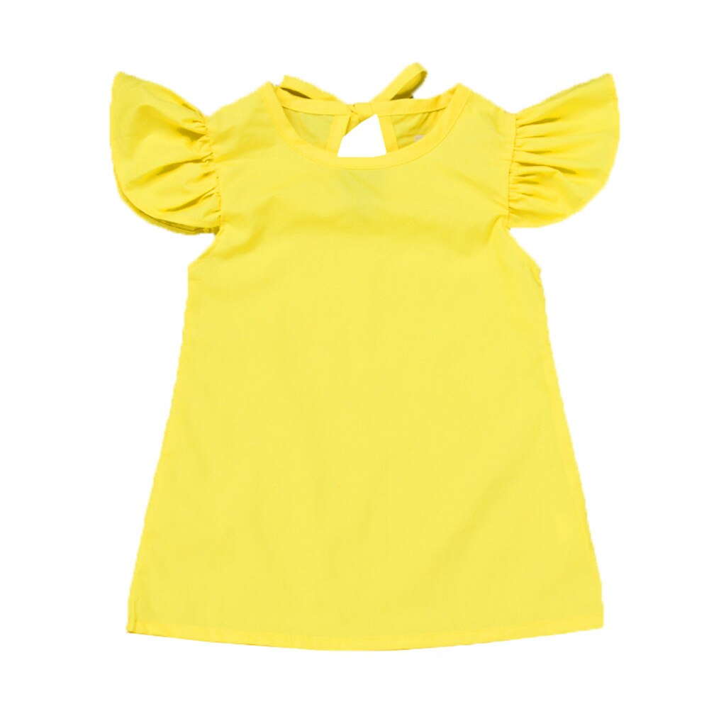 Yellow Summer Dress For Infant Baby Girls