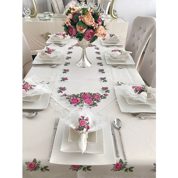 Made in Turkey 26 Pcs tablecloths set embroidered
