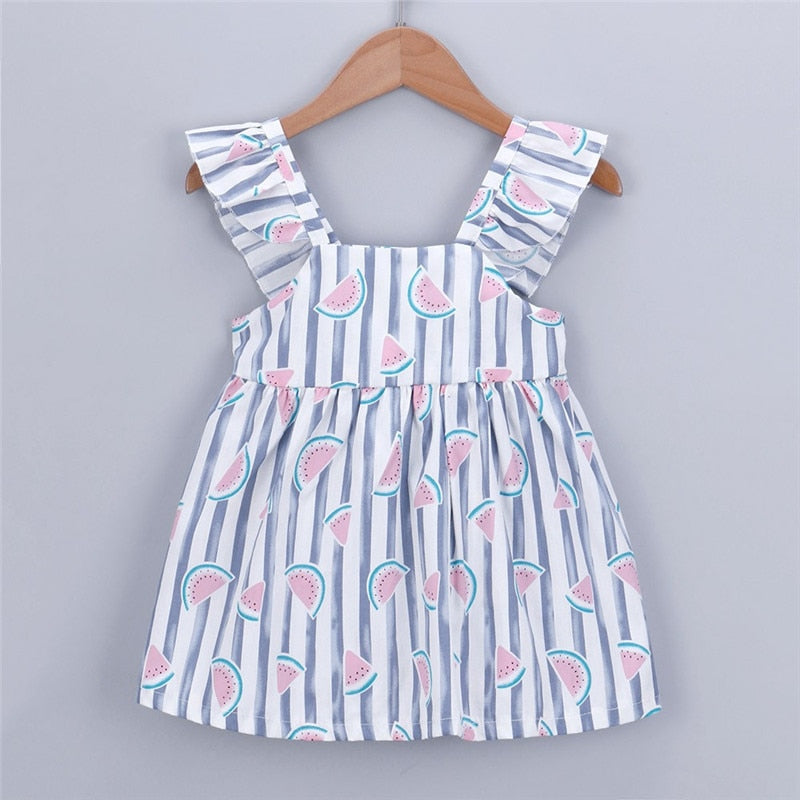 Newborn Baby Girls Dress Summer Clothes Fruit - Be Imperial
