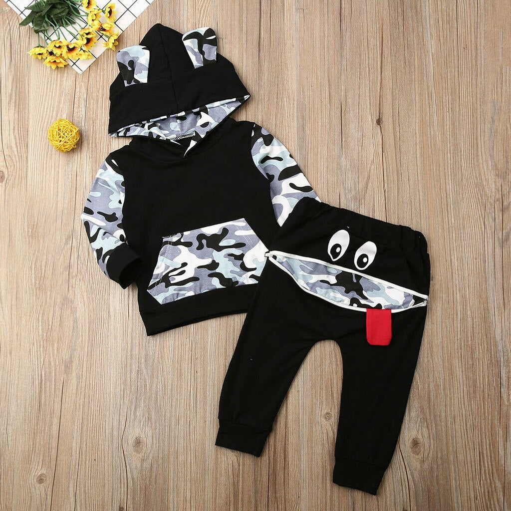 Newborn Infant Baby Boy Girl Hooded Cartoon Bear - Be Imperial