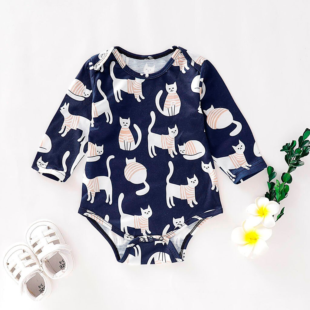 Newborn Infant Baby Girls Boys Long Sleeve Cartoon - Be Imperial