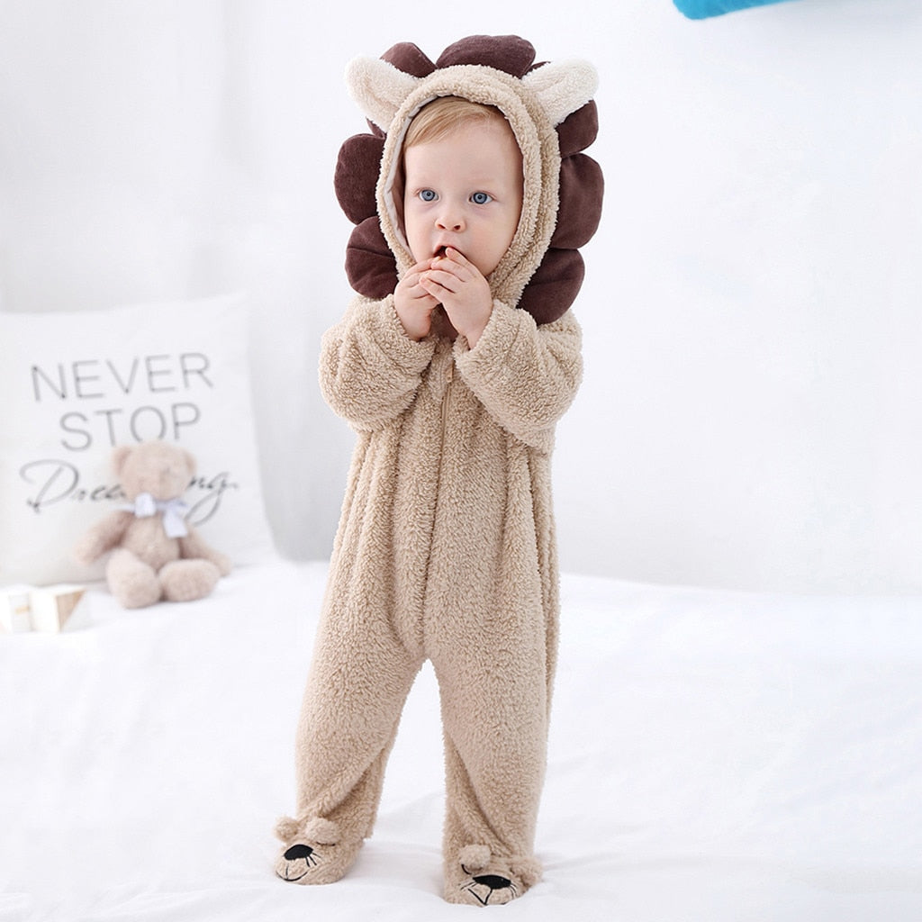 Newborn clothes Baby Boys Girls 3D Cartoon lion