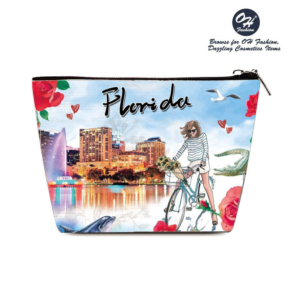 OH Fashion Cosmetic Bag Explore Florida - Be Imperial