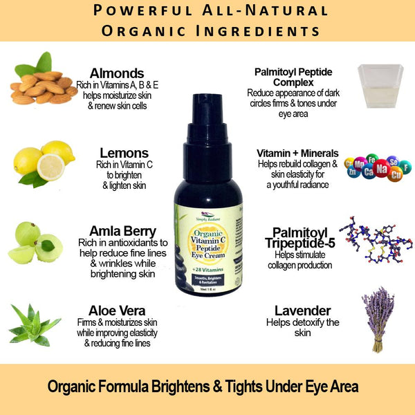 Organic Vitamin C Peptide Skin Brightening Eye - Be Imperial
