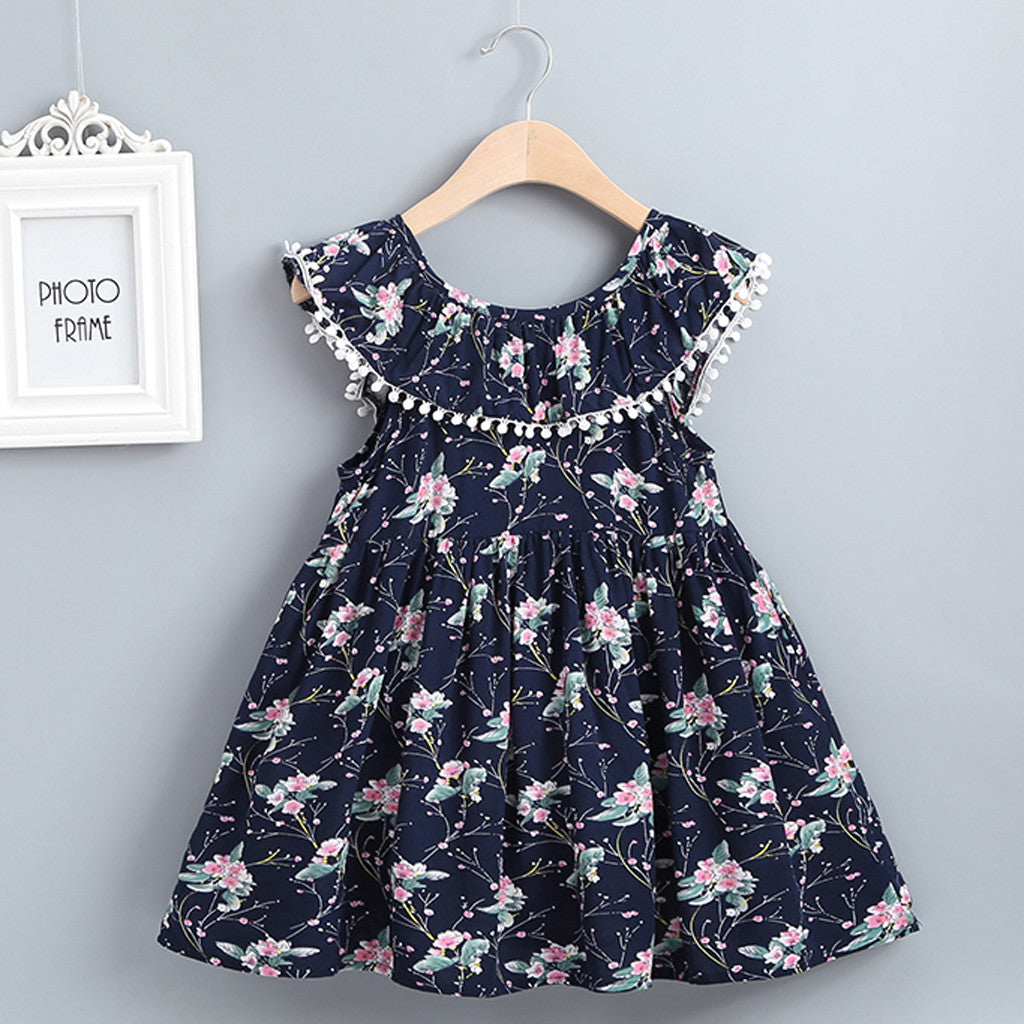 Summer Baby Kids Girls Dress Floral Print - Be Imperial