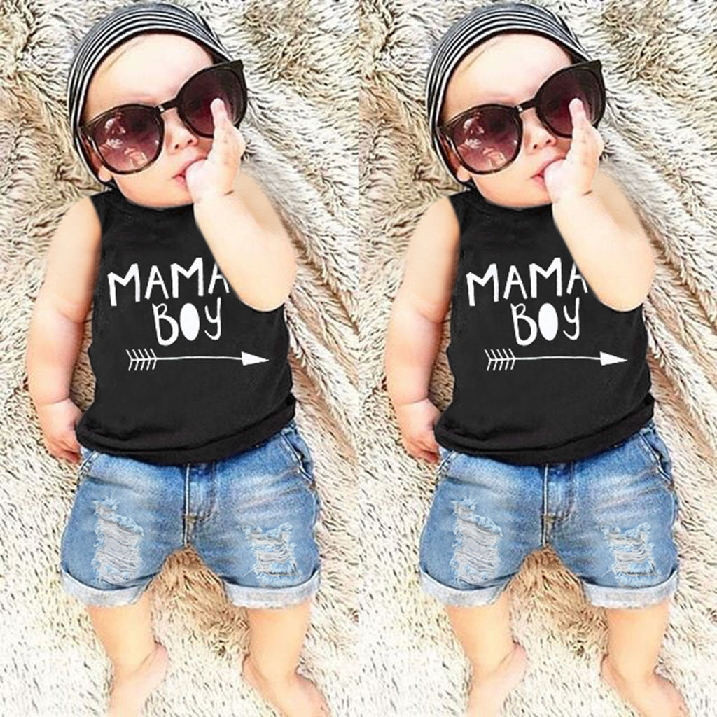 Summer Toddler Baby Boys Letter Print Vest - Be Imperial