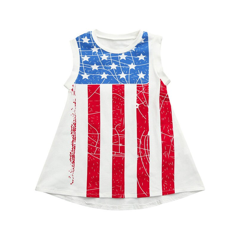 Toddler Baby Girls Dress Sleeveless Star Print