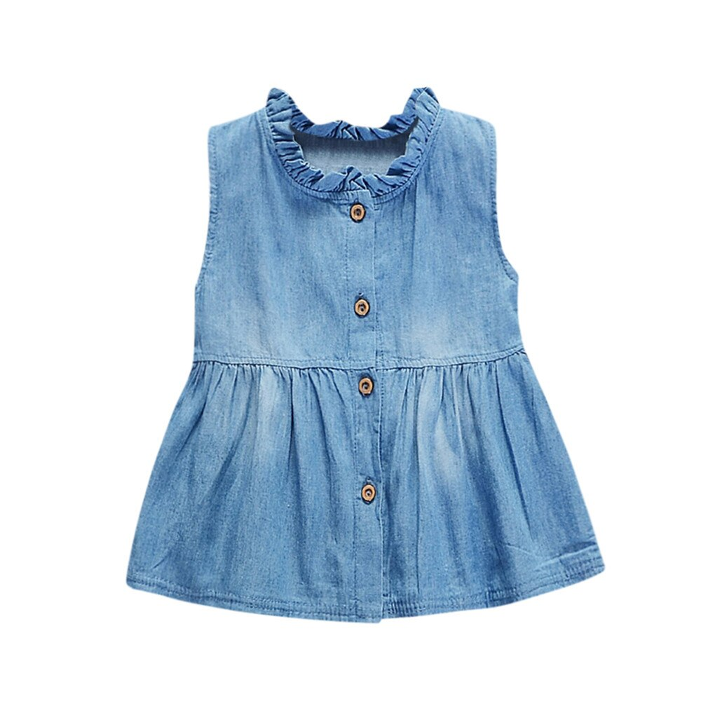 Toddler Baby Girls Dress Solid Sleeveless Princess - Be Imperial