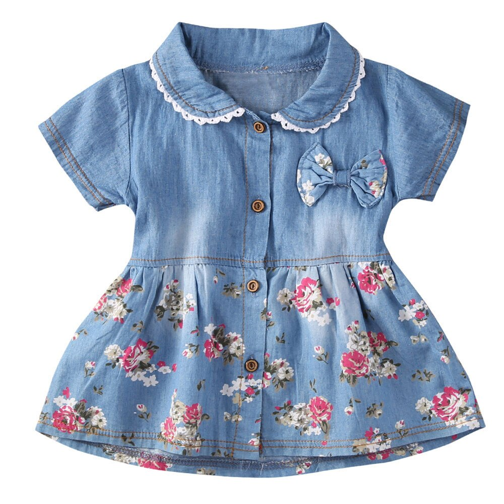 Toddler Baby Girls Dress Summer Clothes Floral