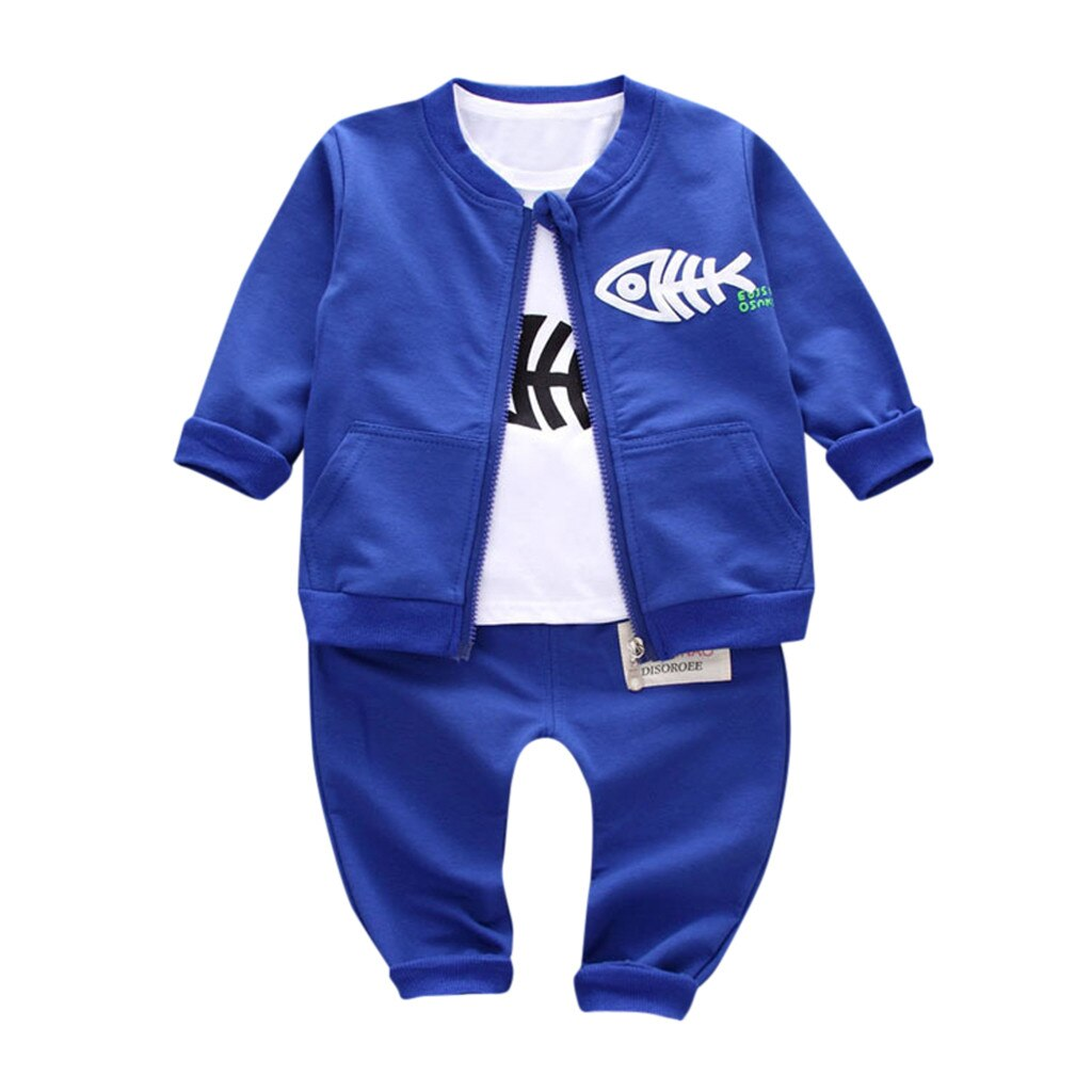 Toddler Kids Baby Boy Girl Cartoon Fish Sport Suit - Be Imperial