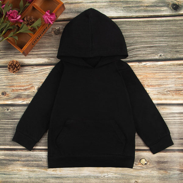 Toddler Kids Baby Boys Girls Hooded Coat Letter