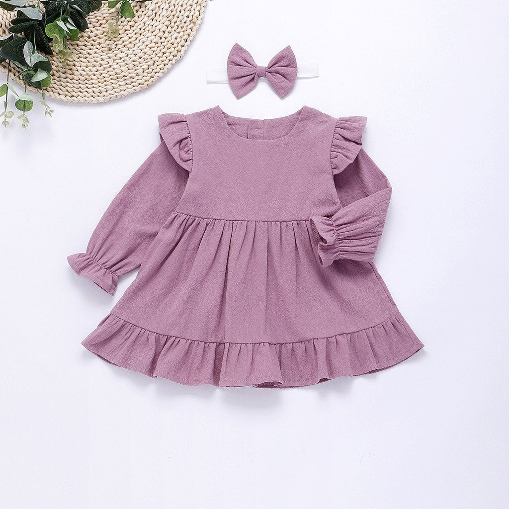 Toddler Kids Baby Girls Clothes Floral Dress Long